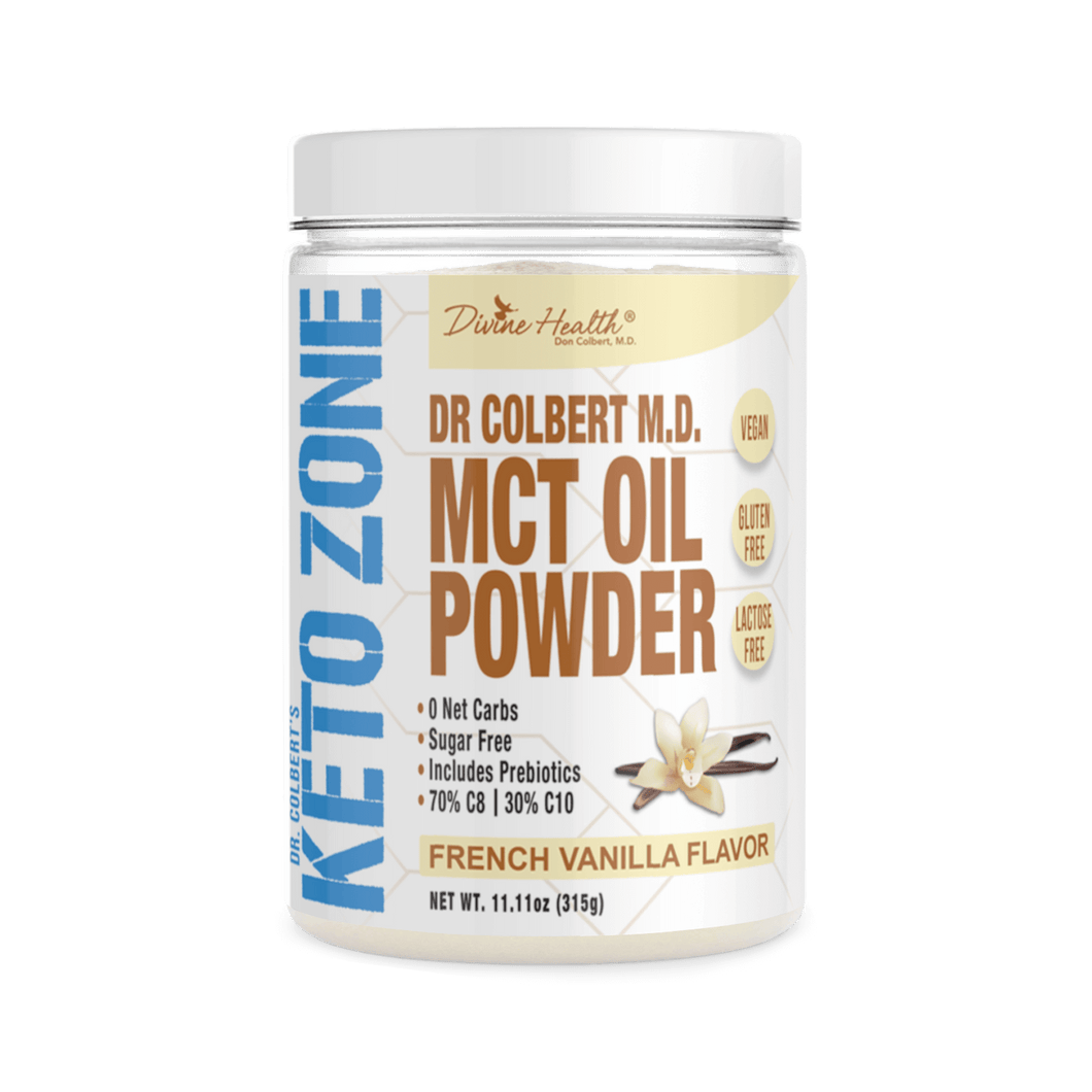 KETOZONE - MCT OIL POWDER - FRENCH VANILLA - 300G (4604565782579)