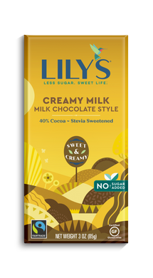 LILY'S 40%  DARK CHOCOLATE - CREAMY MILK -85G (4610825519155)
