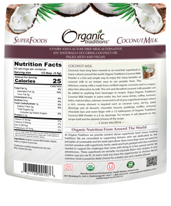 ORGANIC TRADITIONS COCONUT MILK POWDER - 150G (4604702294067)