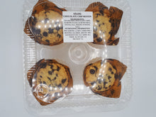 Load image into Gallery viewer, NOLAA'S - CHOCOLATE CHIP MUFFINS - 4 PACK