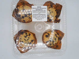 NOLAA'S - CHOCOLATE CHIP MUFFINS - 4 PACK
