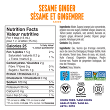 Load image into Gallery viewer, FODY - SESAME GINGER SAUCE - 236ML (4604749709363)