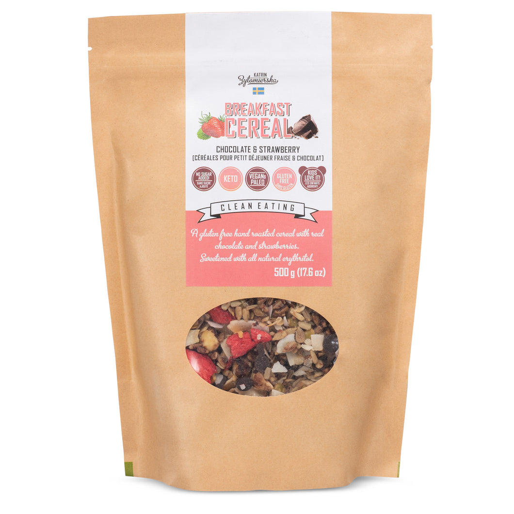 KZ CLEAN - CEREAL - CHOCOLATE AND STRAWBERRY - 500G (4604832743475)