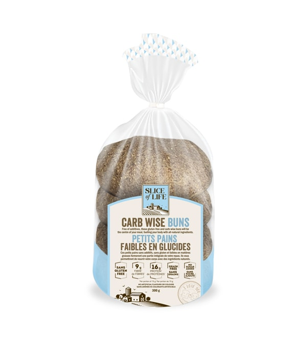 CARBWISE GLUTEN FREE BUNS - 550G 4 PACK (4671361220659)