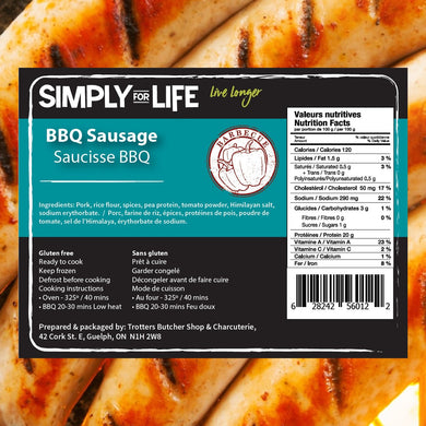 SIMPLY FOR LIFE SAUSAGES - BBQ - 400G (4617076604979)