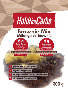HOLD THE CARBS - LOW CARB CHOCOLATE BROWNIE MIX - 300G (4603660763187)