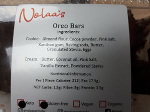 NOLAA'S - OREO BARS - 6 PACK