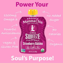 Load image into Gallery viewer, MAMMA CHIA SQUEEZE - STRAWBERRY BANANA - 99G