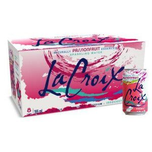 LACROIX SPARKLING WATER - PASSIONFRUIT - CASE 8 X 355ML (4611937566771)
