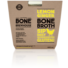 Load image into Gallery viewer, BONE BREWHOUSE - LEMON AND GINGERCHICKEN BROTH - 600ML (4613924487219)