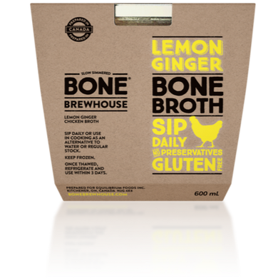 BONE BREWHOUSE - LEMON AND GINGERCHICKEN BROTH - 600ML (4613924487219)
