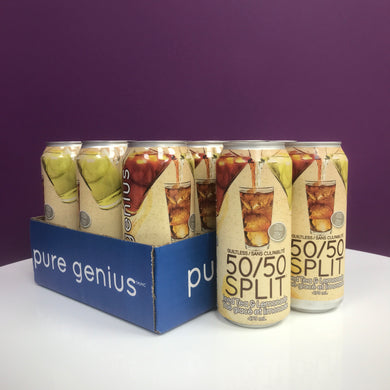 PURE GENIUS 50/50 SPLIT GUILTLESS - CASE 12 X 473ML (4611953819699)