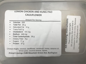 PRIMAL CRAVINGS LEMON CHICKEN & KUNG PAO CAULIFLOWER (4617151053875)