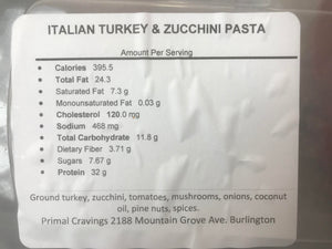 PRIMAL CRAVINGS ITALIAN TURKEY AND ZUCCHINI PASTA (4617136603187)