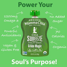 Load image into Gallery viewer, MAMMA CHIA SQUEEZE - GREEN MAGIC - 99G