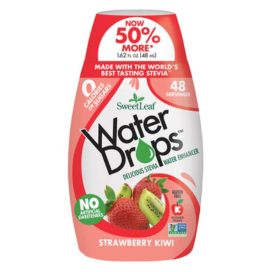 SWEET LEAF - WATER DROPS - STRAWBERY KIWI - 348ML (4619905433651)