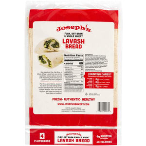 JOSEPH'S BAKERY - FLAX OAT WHEAT LAVASH BREAD - 6 PACK 255G (4613957451827)