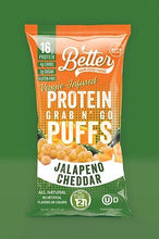 Load image into Gallery viewer, BETTER THAN GOOD PROTEIN PUFFS - JALAPENO CHEDDAR - 25G