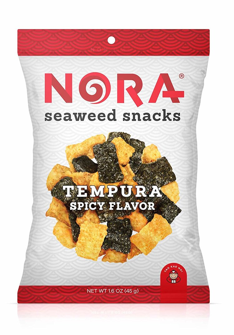 NORA SEAWEED SNACKS - SPICY TEMPURA - 32G (4619871387699)