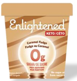 ENLIGHTENED KETO ICE CREAM - CARAMEL FUDGE - 473ML
