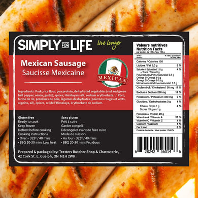 SIMPLY FOR LIFE SAUSAGES - MEXICAN - 400G (4617073164339)