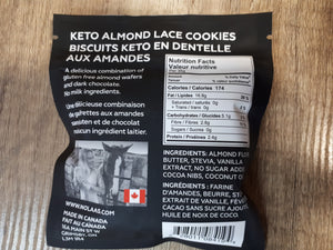 NOLAA'S - KETO ALMOND LACE COOKIES - 2 PACK