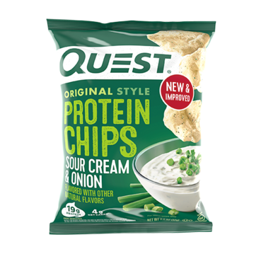 QUEST CHIPS - SOUR CREAM & ONION - 18G (4611900932147)