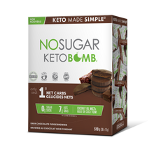 Load image into Gallery viewer, VEGANPURE NO SUGAR KETO BOMBS - CHOCOLATE FUDGE BROWNIE - 10 X 17G (4610853699635)