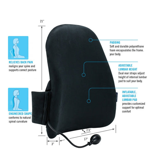 CustomAir  Backrest with Adjustable Lumbar