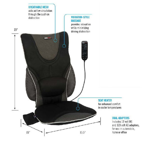 Portable Vibration Massage Chair with Heat