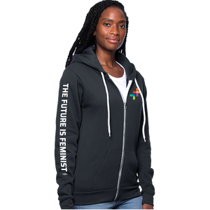 The Future is Feminist - Organic RPET Fleece Full-Zip Hoodie