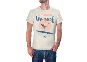 Tshirt - In Montpellier we surf