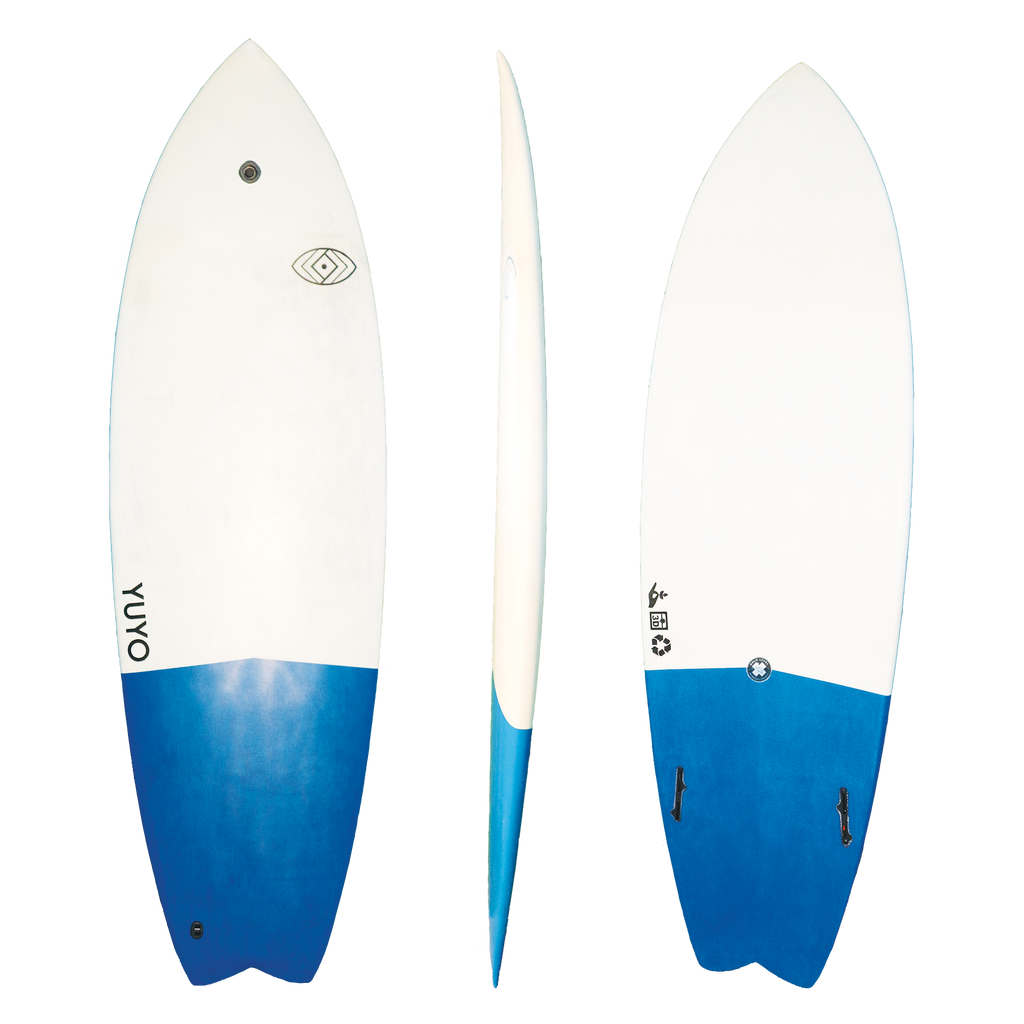 yuyo sustainable 3D printed surfboard