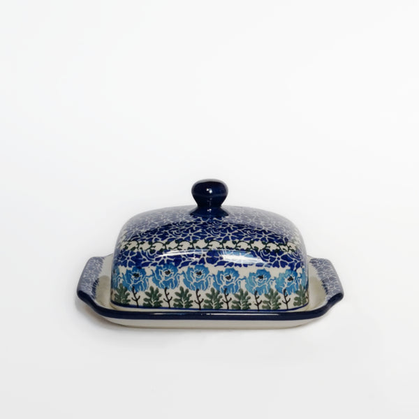 Butter Dish in Blue Poppy