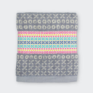 100% Cotton Kitchen Towel in Grey and Pink