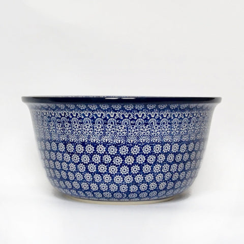 Large Mixing Bowl in Blue Trellis