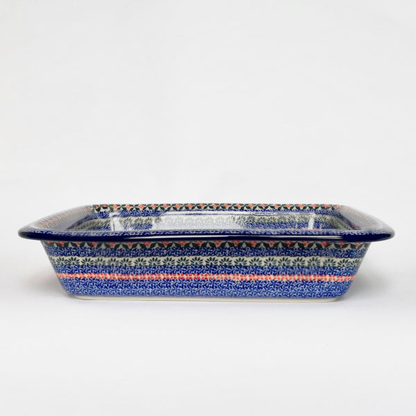 Large Handmade Deep Pie Dish in Polish Pottery