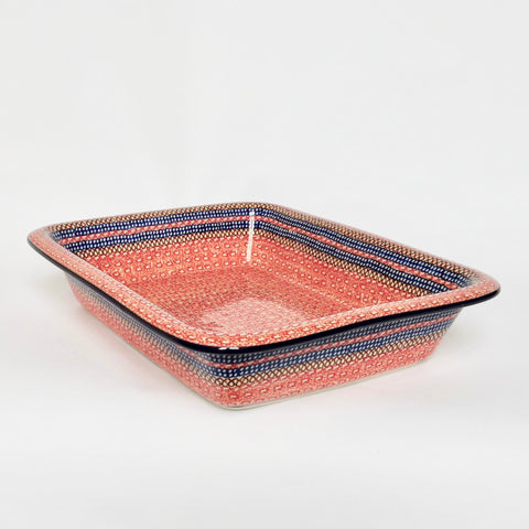 Large Pie Dish in Red - UNIKAT DESIGN