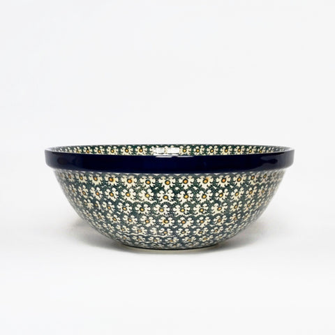 Large Serving Bowl in Golden Green