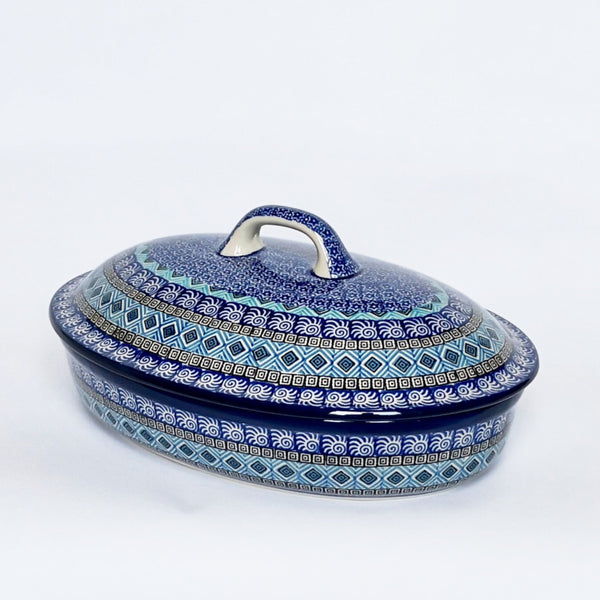 Casserole Dish With Lid in Blue Maroc