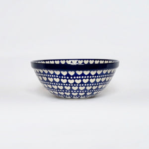 Medium Serving Bowl in Hearts and Dots