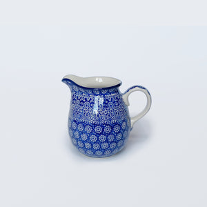 Blue Boleslawiec Pottery Pint Jug