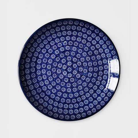 Dinner Plate in Woodcut Flower 25.5cm