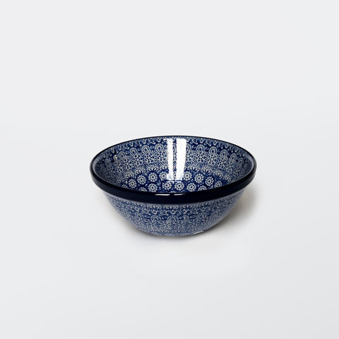 Pasta Bowl in Blue Trellis
