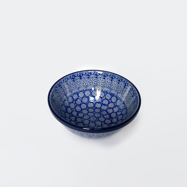 17cm blue patterned bowl in Polish Pottery by Ceramika Artystyczna