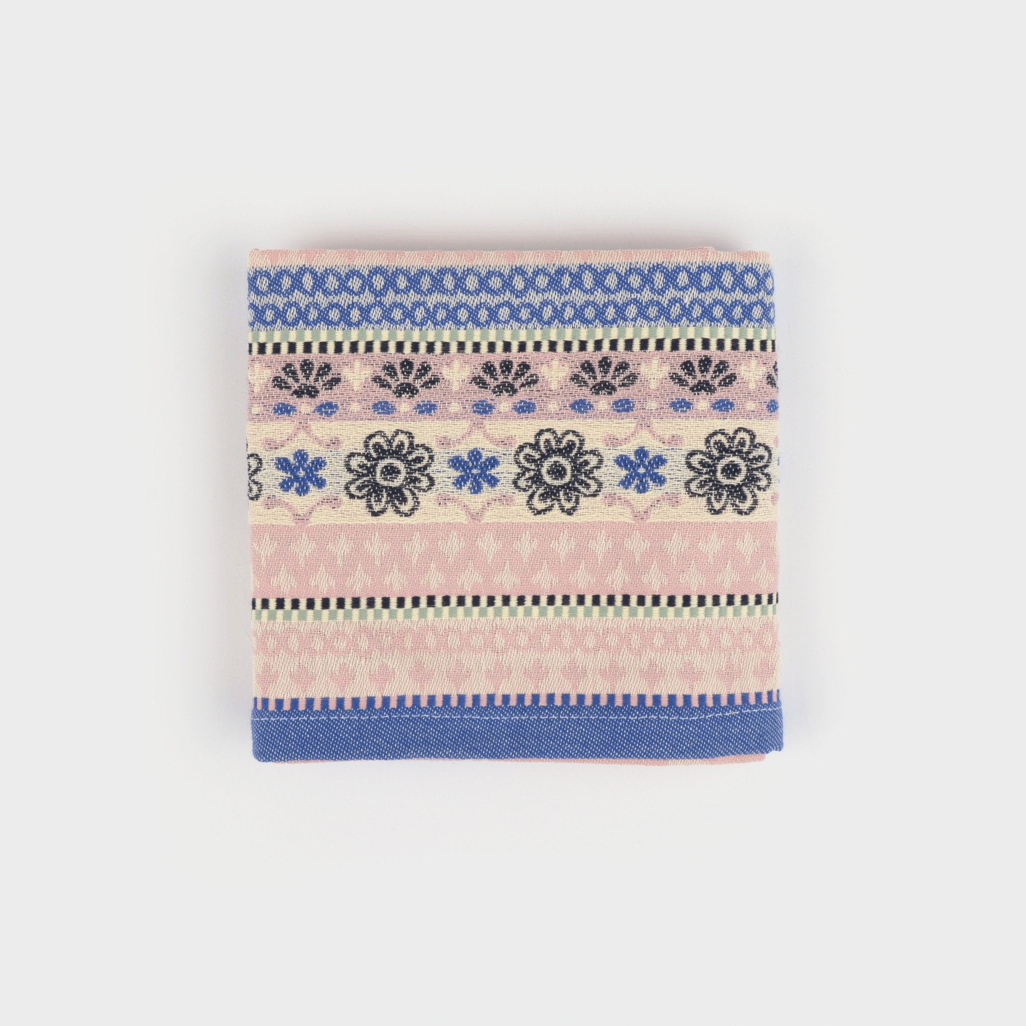 100% Cotton Tea Towel in Pale Pink Floral pattern