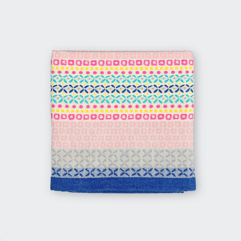 100% Cotton Tea Towel in Grey and Pink Geometric Design
