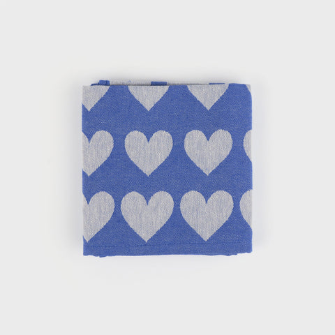 Teatowel in Blue Hearts