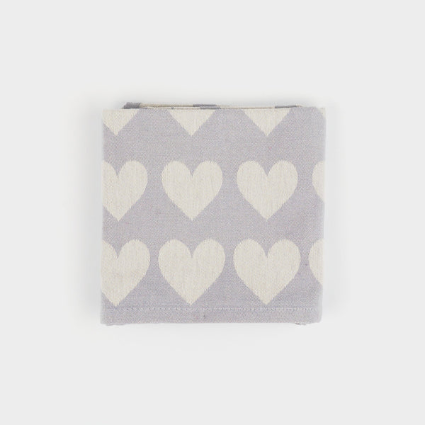 Teatowel in Grey Hearts