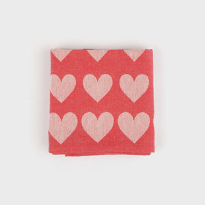 Teatowel in Red Hearts